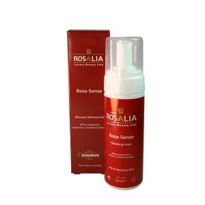 فوم پاک کننده صورت رزالیا مناسب پوست خشک و حساس مدل رزاسنس